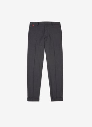 AZUL MIX WOOL Pantalones - Bally