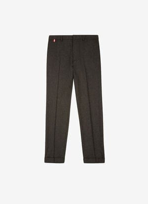 GRIS MIX WOOL Pantalones - Bally