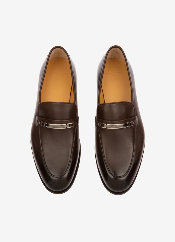 MARRON CALF Mocassins - Bally