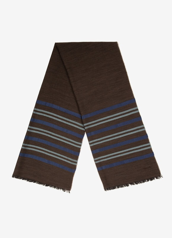 BLACK MIX SILK/WOOL Scarves - Bally