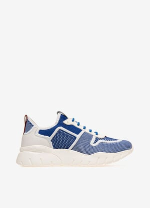BLUE MIX POLYESTER Sneakers - Bally