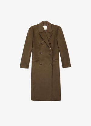 GREEN MIX CASHMERE/WOOL Outerwear - Bally