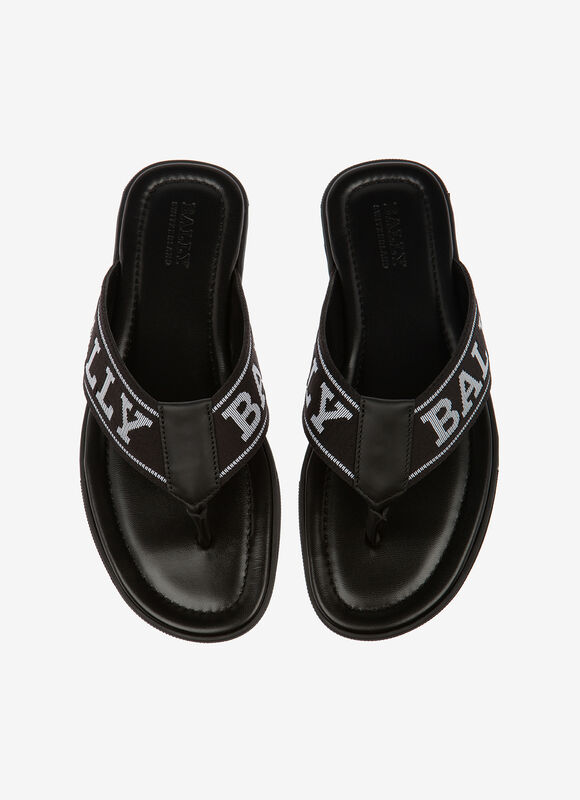 NEGRO SYNTHETIC Sandalias y chanclas - Bally