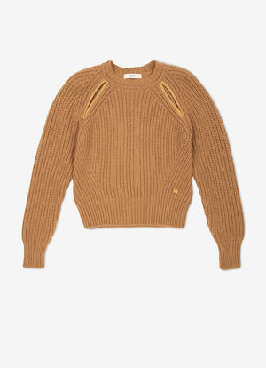 MARRóN CAMEL WOOL Punto - Bally