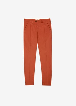 NARANJA COTTON Pantalones - Bally