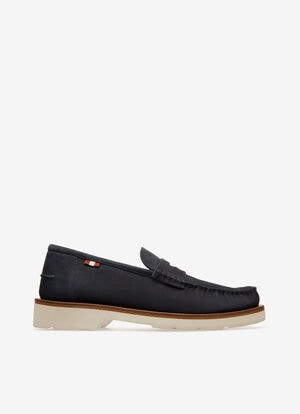 BLEU CALF SUEDE Mocassins - Bally