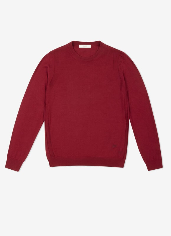BURGUNDY MIX WOOL Knitwear - Bally