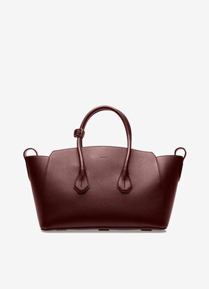 BURGUNDY CALF Top Handle Bags - Bally