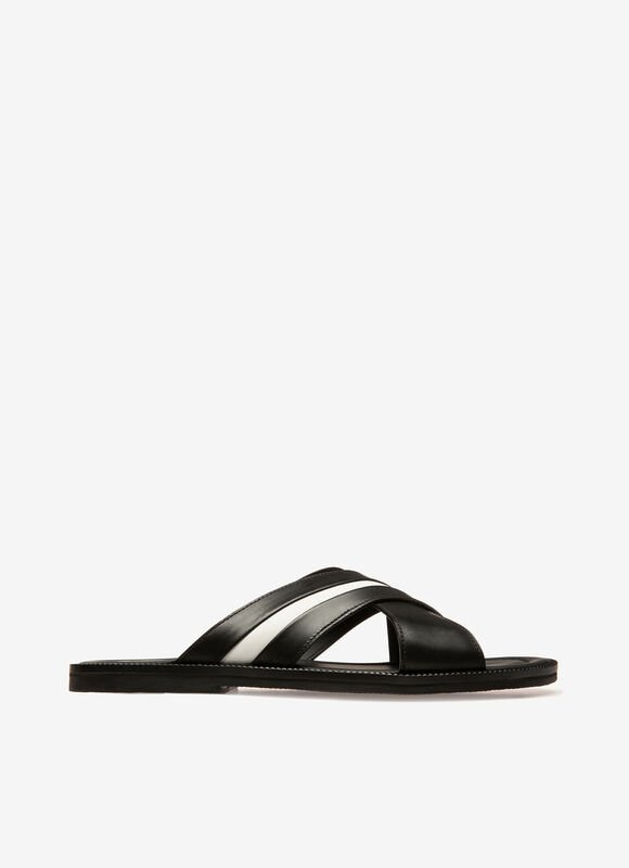 NEGRO CALF Sandalias y chanclas - Bally