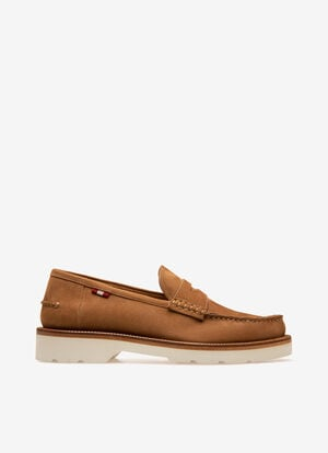 ROUGE CALF SUEDE Mocassins - Bally