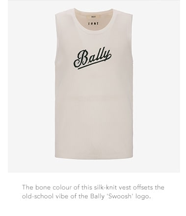 Bally silk-knit vest