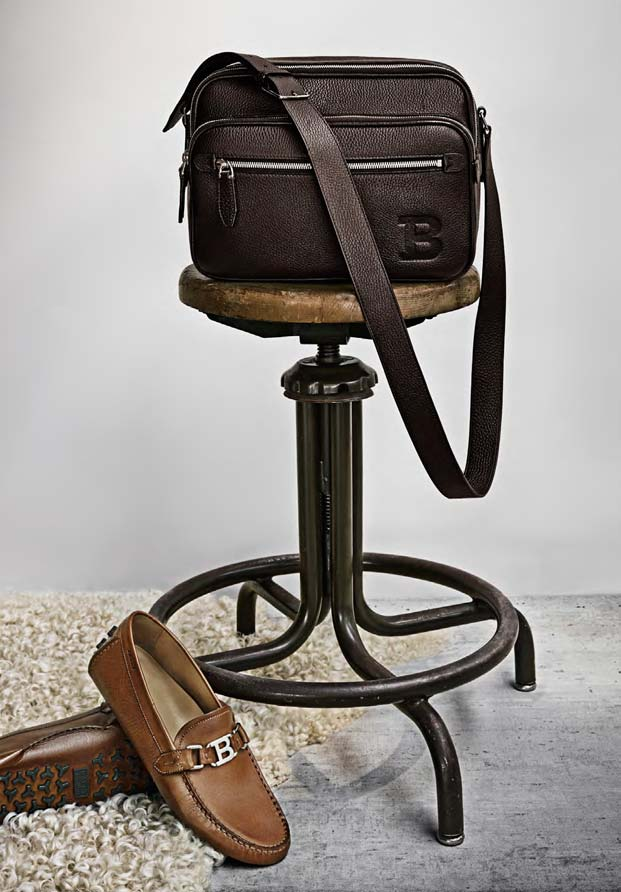 b8083d773724 ... the pulitzer bag in grain calf leather with drivers from the bally b  collection